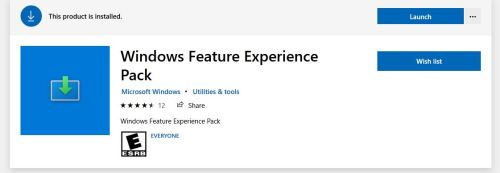 Windows Feature Experience Pack Poses an Interesting Mystery.store