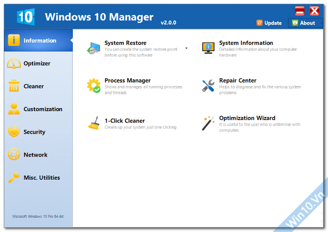 Yamicsoft Windows 10 Manager