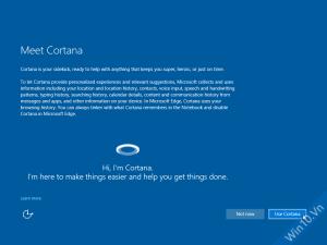 Bạn có muốn dùng Cortana không?