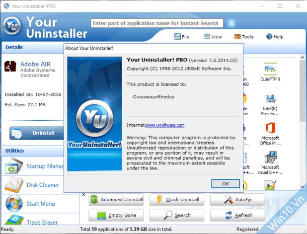 Your Uninstaller 7.5