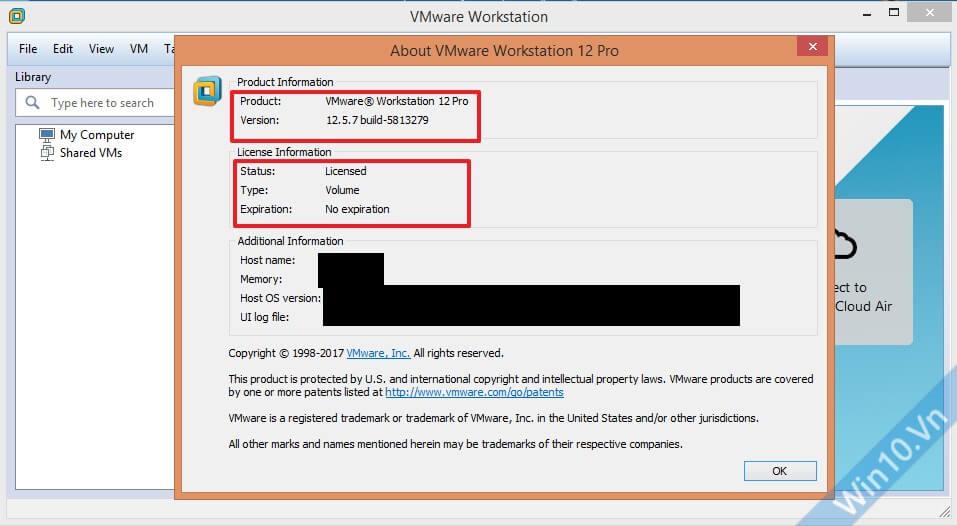 VMware Workstation Pro 12.5.7 Build 5813279 + License Keys