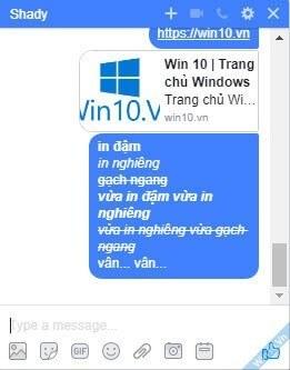 Cách chat chữ in đậm, in nghiêng, gạch ngang trong Messenger Facebook