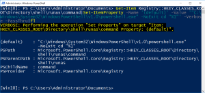 Open Elevated PowerShell Prompt Here From Right-Click