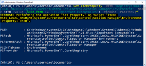 Update Path Environment Variable Using PowerShell In Windows 10