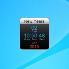 Digital Kitchen Timers Towel Rack New Years Countdown - Windows 7 Desktop Gadget