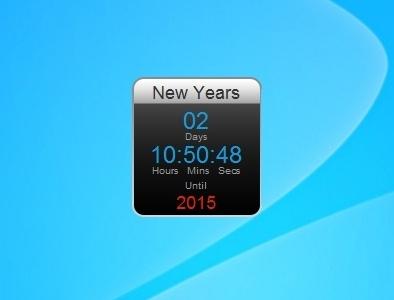 digital kitchen timers remodel a new years countdown - windows 7 desktop gadget