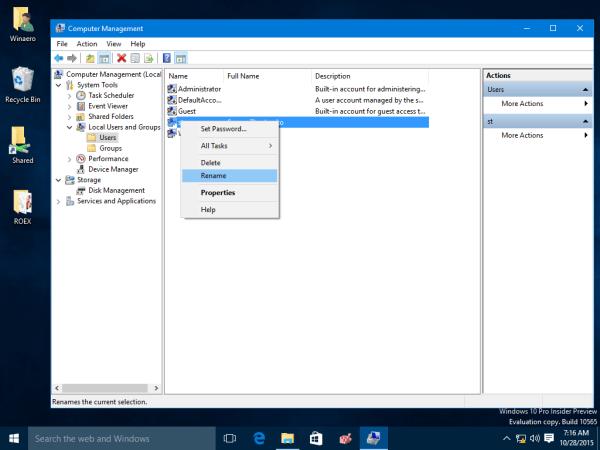Cara mengubah nama akun pengguna pada Windows 10