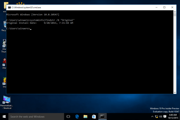 How to get Windows 10 installation date