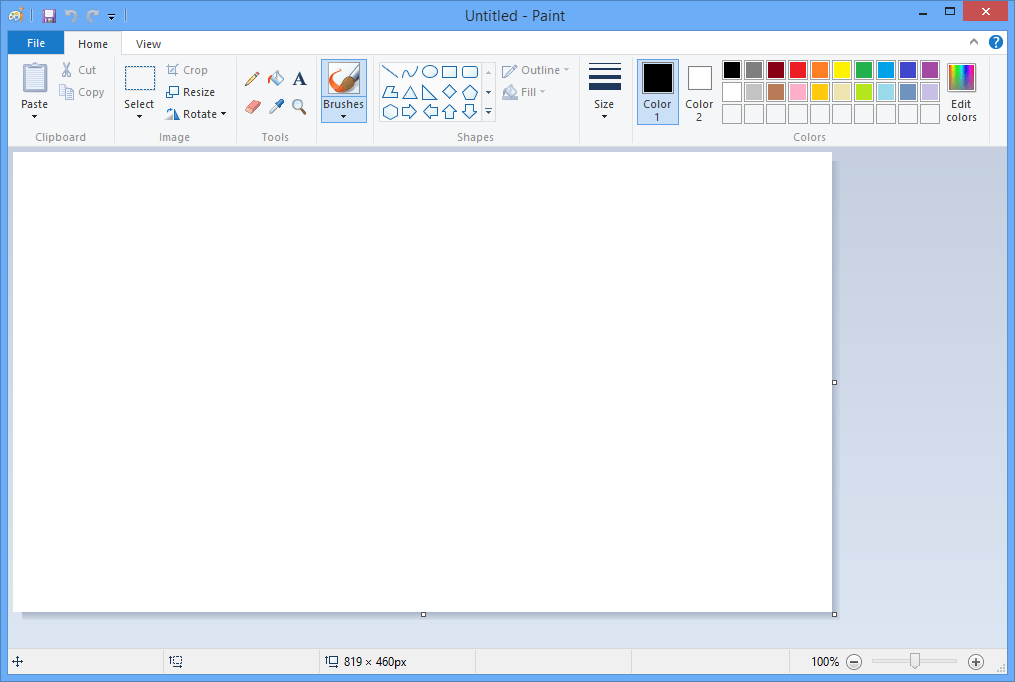 Image result for ms paint in windows 8.1