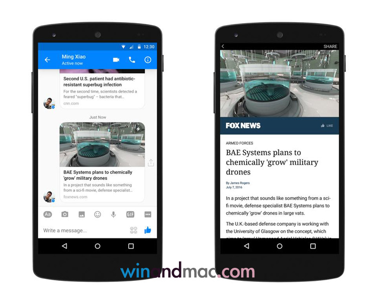 Facebook Messenger也支援Instant Articles 一按即睇? - winandmac.com
