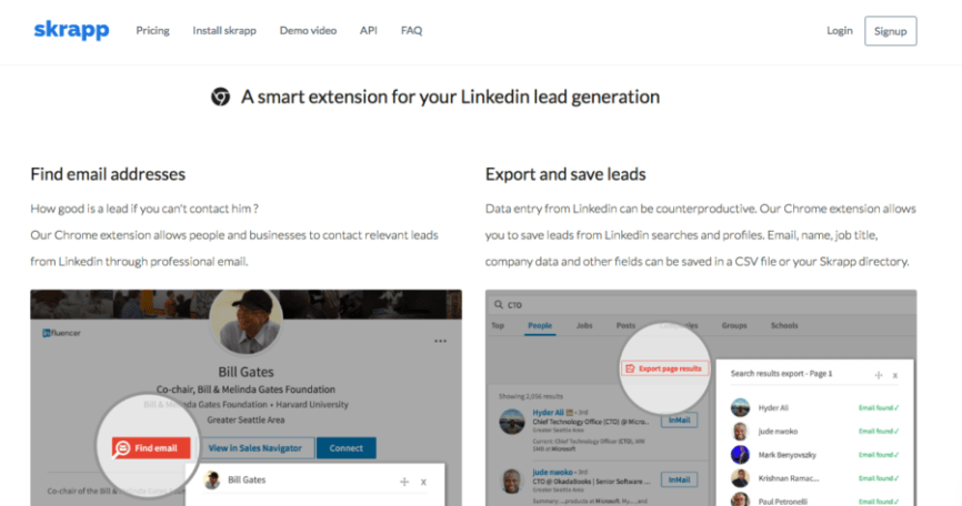 Linkedin Tool Review: Skrapp - Email extractor for LinkedIn