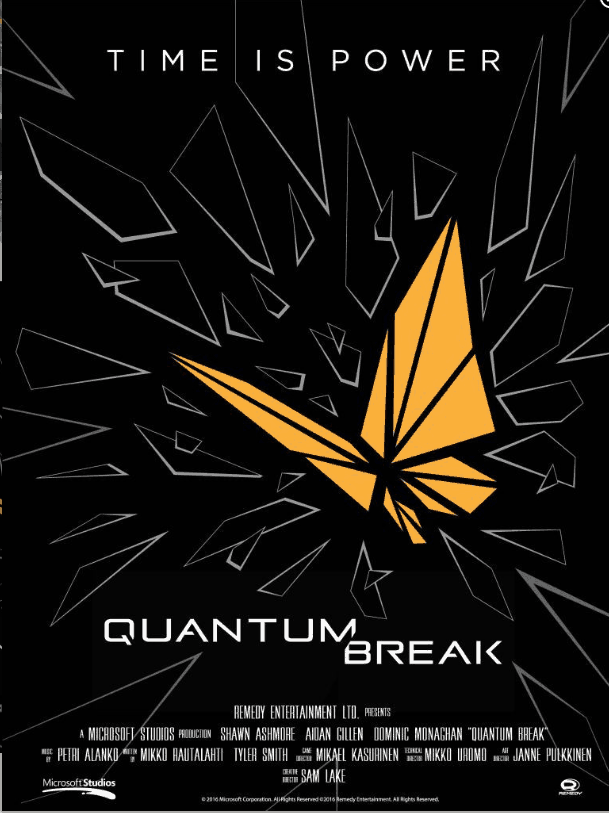 get yourself a free quantum break poster straight from microsoft