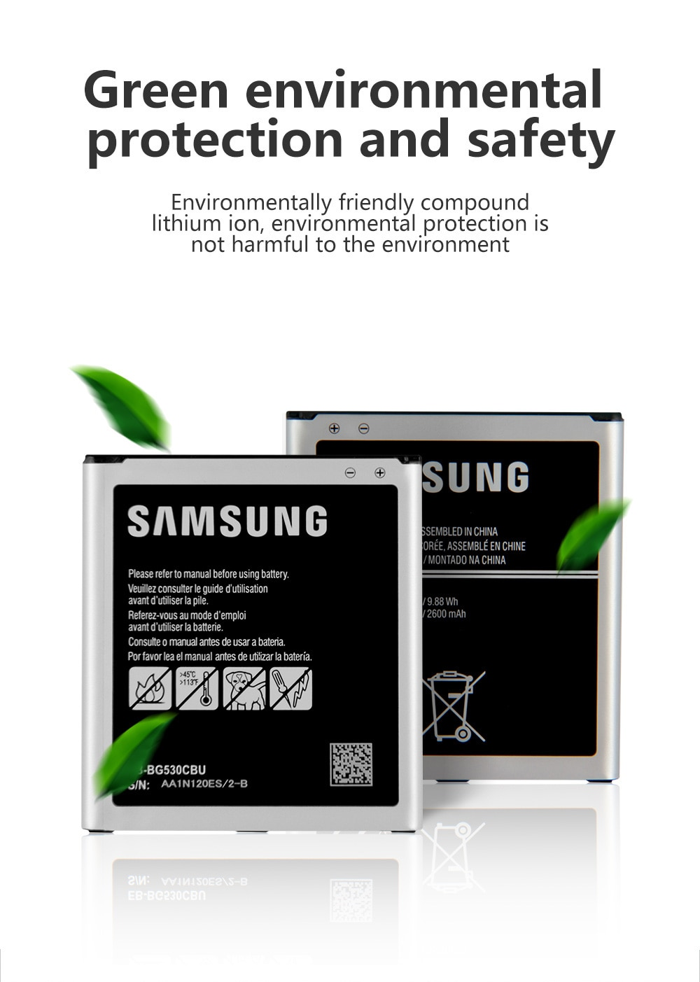 Samsung Battery EB-BG530CBU EB-BG531BBE For Samsung Galaxy Grand Prime J3 2016 G530F J500 On5 J5 2015 G530H G5309W G530 SM-G531H