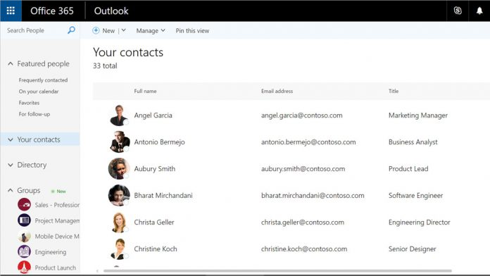Outlook on the Web: Microsoft Updates with Enhanced People