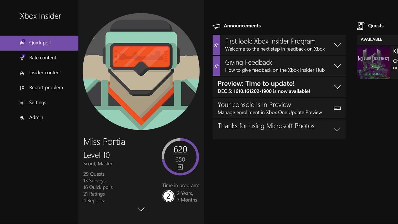 Microsoft Xbox Insider Hub Now Available On Windows 10 PCs WinBuzzer