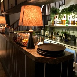 The bar downstairs from Hoppers Marylebone