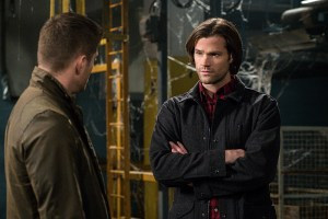 """Supernatural -- """"Hell's Angel"""" -- Image SN1118B_0233.jpg -- Pictured (L-R): Jensen Ackles as Dean and Jared Padalecki as Sam -- Photo: Liane Hentscher /The CW -- © 2016 The CW Network, LLC. All Rights Reserved"""