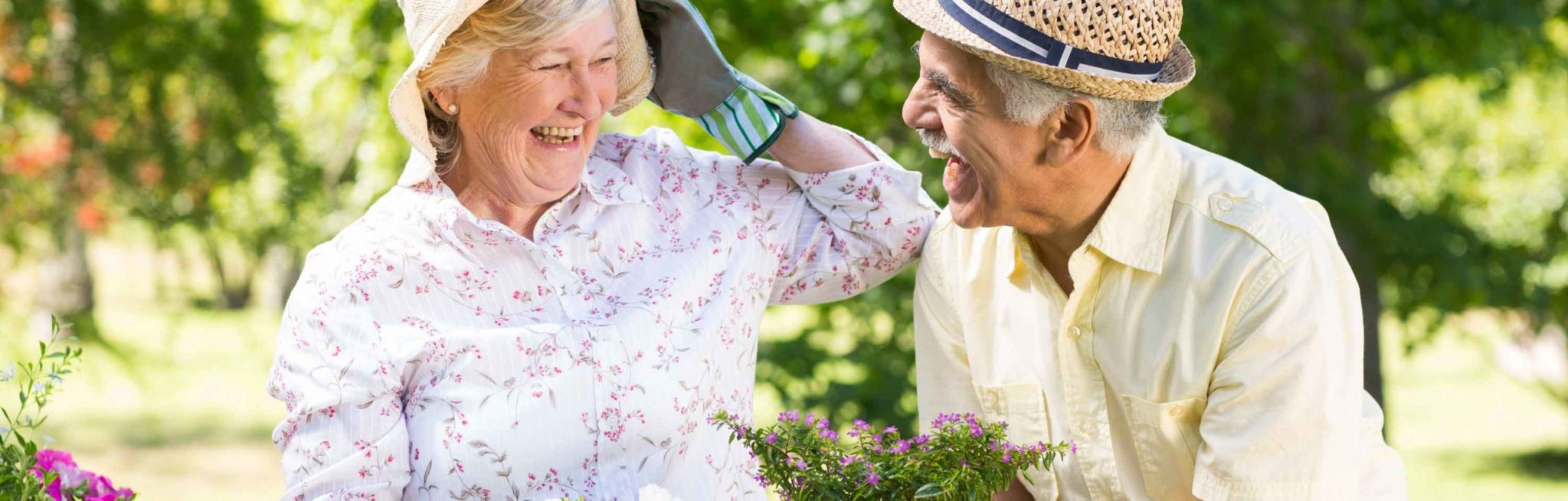 Senior friends are enjoying some time in the garden as part of the activities and recreation offered at Winchester Glen Retirement Community in Oshawa.