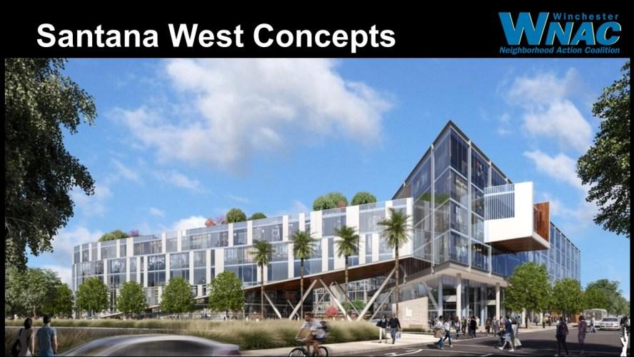 Santana Row West concept drawing