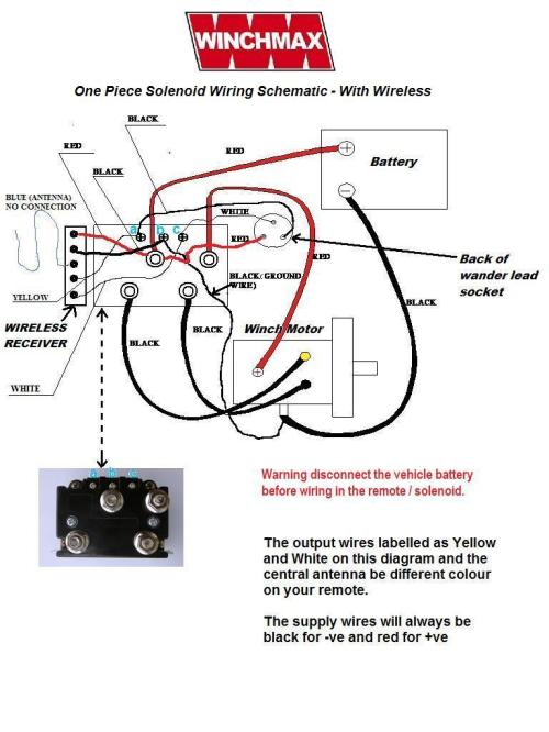 small resolution of wiring diagram supplied for winches with or without wireless control