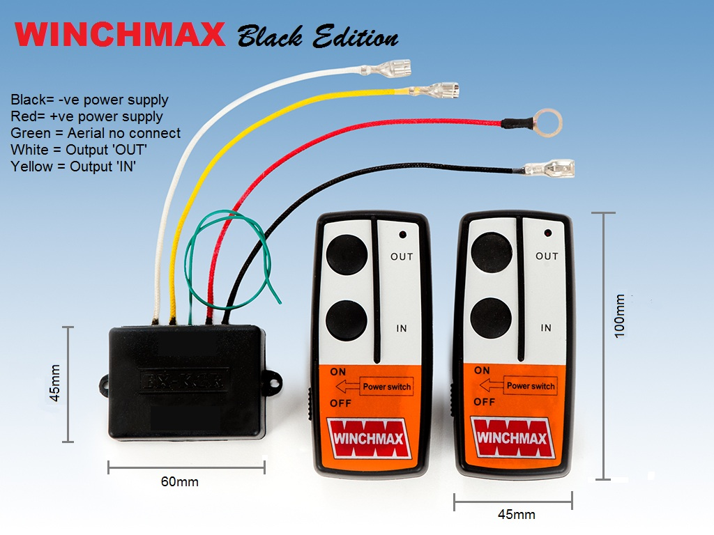 hight resolution of details about wireless winch remote control twin handset 12v 12 volt winchmax
