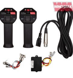 wireless winch remote control twin handset winchmax 12 volt lead socket [ 1600 x 1600 Pixel ]