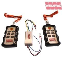 winchmax 4 x channel winch remote wireless twin handset 12 volt or 24 volt [ 1600 x 1600 Pixel ]
