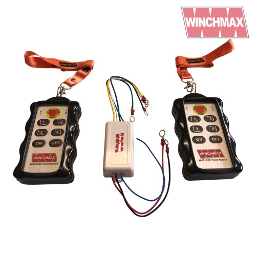 small resolution of winchmax 4 x channel winch remote wireless twin handset 12 volt or 24 volt