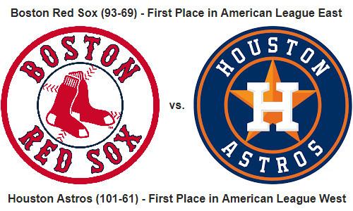 MLB Playoffs – Red Sox Versus Astros