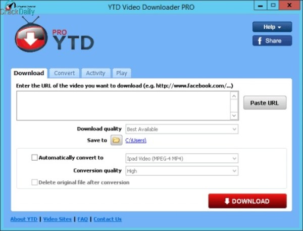 YTD Video Downloader Pro Patch & License Key Updated Free Download