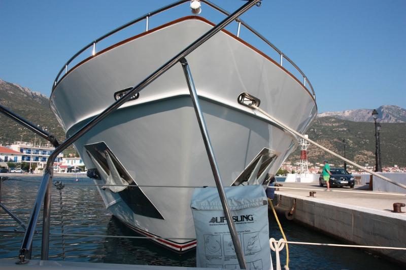 Zimmer mit Aussicht. Eine 40 Meter Yacht, Wert sicherlich über 40 Millionen Euro