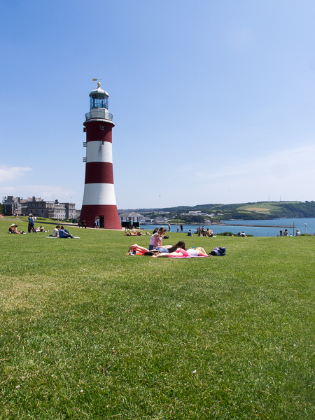 Liegewiese mit Aussicht in Plymouth