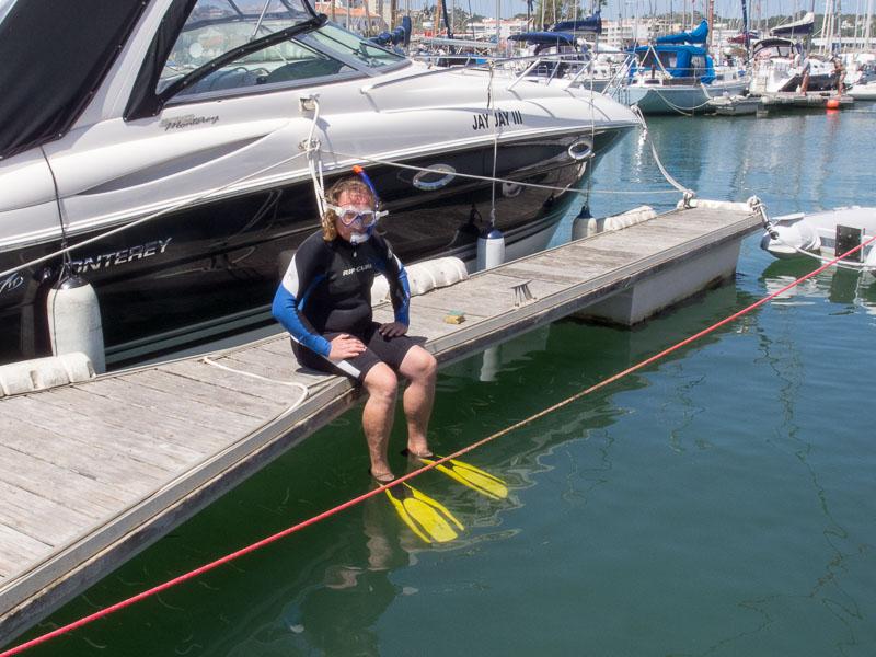 Mein Tiefenmesser: Badetag im Hafenbecken