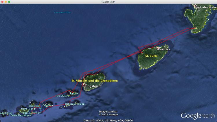 Mitsegeln Karibik: die Route