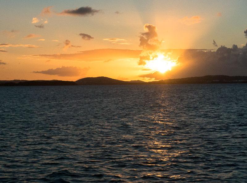 Antigua mit Sonnenuntergang