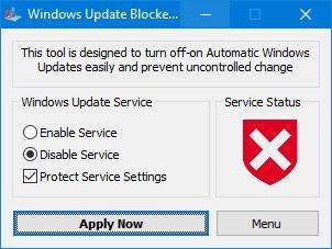 Aplicativo de bloqueador do Windows Update