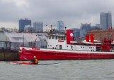 A splash of red: the fireboat John J. Harvey