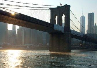Sunlight under the Brooklyn Bridge