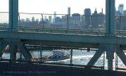 Traffic below---a DEP sludge boat