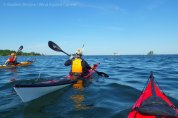 After lunch, we paddle on eastward