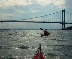 We paddle under the Bronx-Whitestone Bridge again