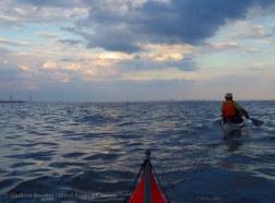 We paddle along the South Shore of Staten Island back toward the Verrazano-Narrows Bridge