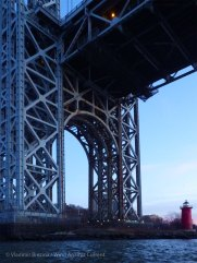 The George Washington Bridge and the Little Red Lighthouse