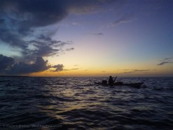 ... and paddle on into the last night of the trip: just a few miles to go to Key Largo