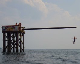 The Greasy Pole: see https://windagainstcurrent.com/2013/08/17/weekly-photo-challenge-carefree-take-two/