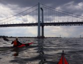We reach Throgs Neck on time to catch the current