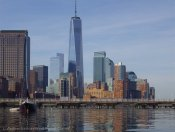 The new World Trade Center tower rises high