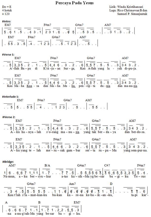 Lirik Ku Mau Cinta Yesus : lirik, cinta, yesus, Cinta, Yesus, Chord, Lirik, Musik