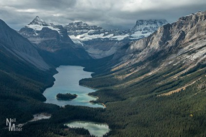 View on flight to Mt. Assiniboind