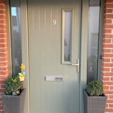 Front Door - Full Frosted Privacy